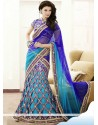 Sky Blue Resham Fancy Fabric Lehenga Choli
