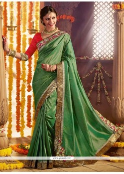 Ravishing Patch Border Work Designer Saree