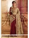 Festal Silk Maroon Designer Saree