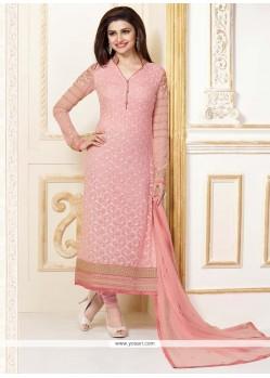 Prachi Desai Georgette Embroidered Work Churidar Designer Suit