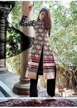 Modish Black Zari Work Designer Pakistani Salwar Suit