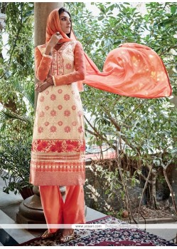 Enticing Net Embroidered Work Designer Pakistani Suit