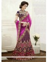 Jaaz Purple Embroidery Viscose And Jacquard Lehenga Choli