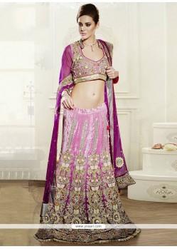 Preety Pink Resham Work Viscose Lehenga Choli