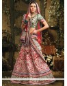 Charming Red Resham Work Raw Silk Lehenga Choli