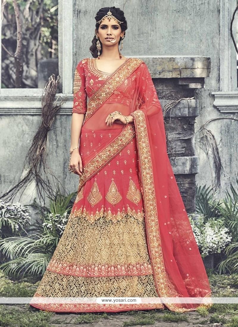 de0973b065 Shop online Praiseworthy Net Resham Work Designer Lehenga Saree