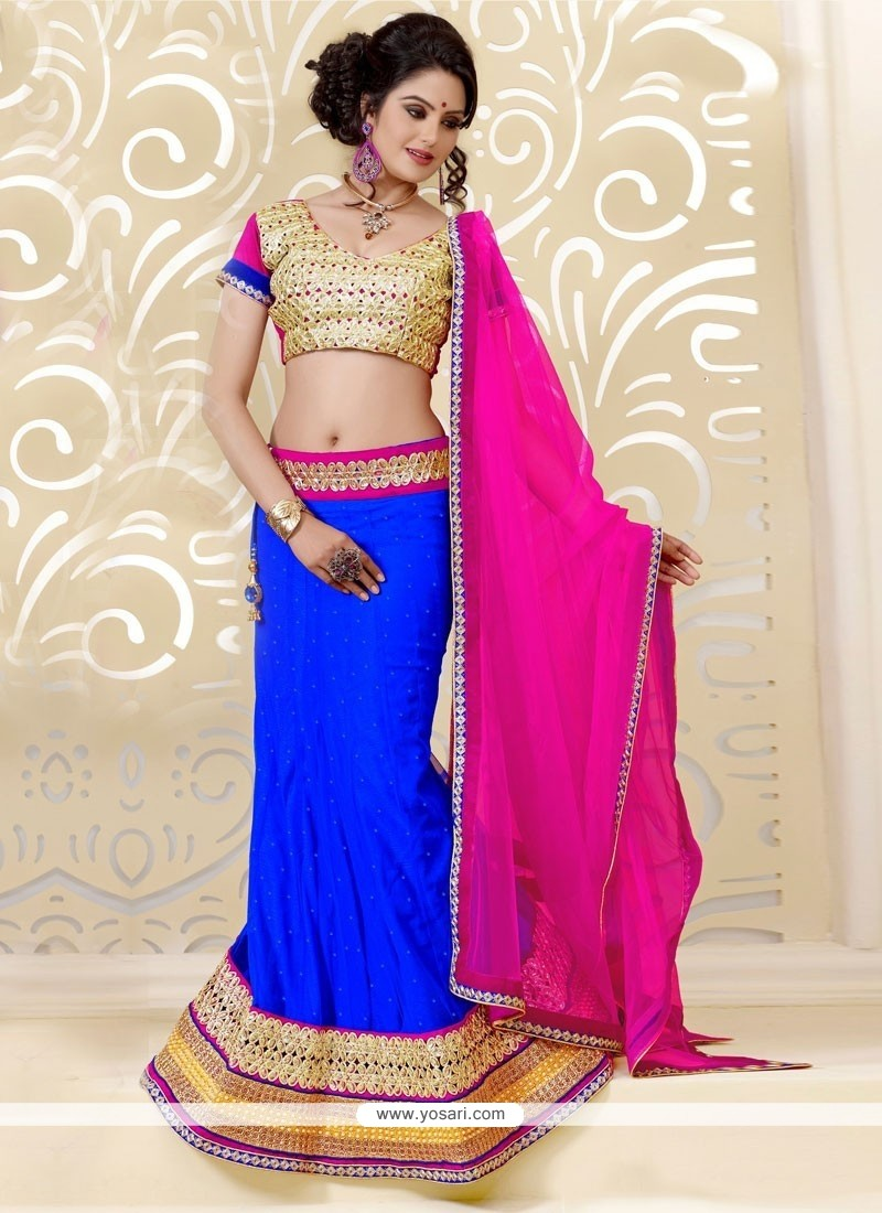 Dazzling Blue A-Line Lehenga Choli