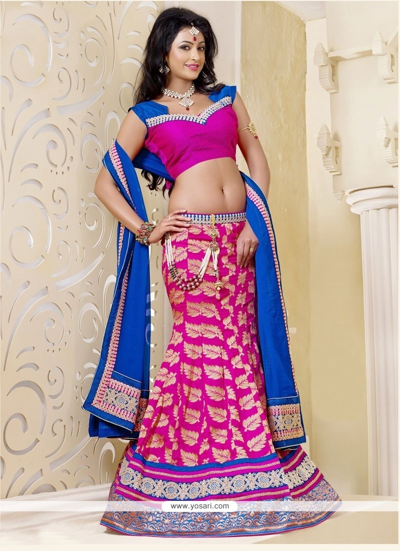 Fabulos Hot Pink Art Silk Lehenga Choli