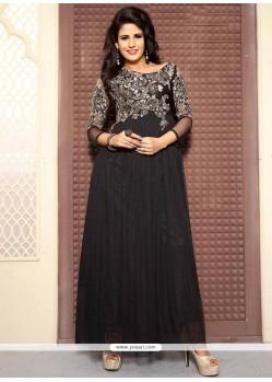 Ruritanian Net Black Designer Gown