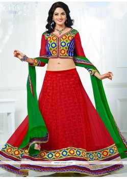 Red Colour Net Lehenga Choli