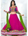 Magenta Colour Net A-Line Lehenga Choli