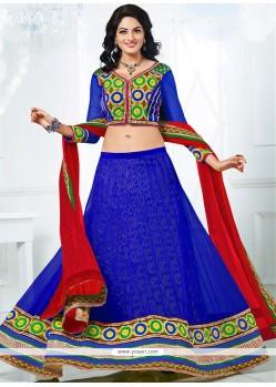 Vibrante Blue Colour Lehenga Choli