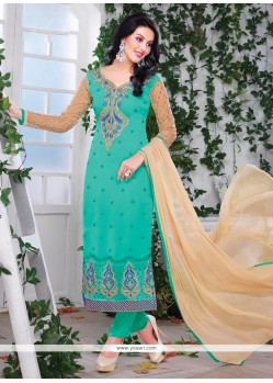 Dainty Sea Green Churidar Designer Suit