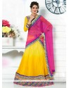 Yellow Colour Faux Chiffon Lehenga Choli