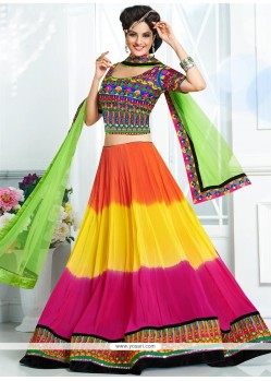 Exotic Multicolored A-Line Lehenga Choli