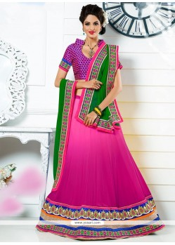 Pink Colour A-Line Lehenga Choli