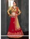 Red Shaded Embroidery Work Georgette Lehenga Choli