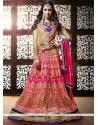 Shraddha Kapoor Magenta Resham Work Georgette Lehenga Choli