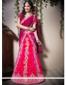 Eyeful Wine And Pink Shade Velvet Wedding Lehenga Choli