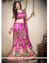 Pristine Pink Net Fish Cut Lehenga Choli