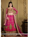 Flawless Brown Silk Embroidered Lehenga Choli