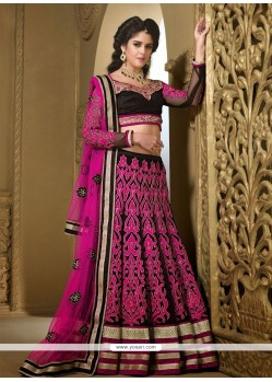 Luxurious Black Net Patch Work Lehenga Choli