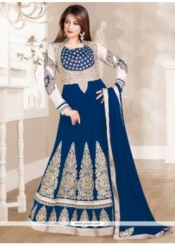 Modern Blue Georgette Anarkali Salwar Kameez