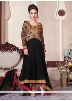 Affectionate Embroidered Work Black Anarkali Suit