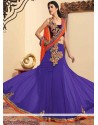 Stylish Violet Georgette Lehenga Choli