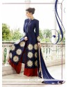 Glamorous Raw Silk Patch Border Work Designer Suit