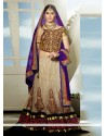 Genius Beige Net And Jacquard Wedding Lehenga Choli