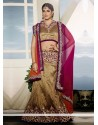 Beige Art Silk Party Wear Lehenga Choli