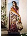 Imperial Beige And Orange Net Lehenga Choli