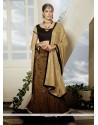 Lovely Brown Art Silk Designer Lehenga Choli