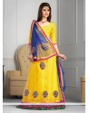 Beautiful Yellow Net A-Line Lehenga Choli