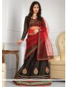 Black Net A-Line Wedding Lehenga Choli