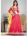 Epitome Pink Net Wedding Lehenga Choli