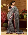 Epitome Grey Shaded Faux Georgette Saree