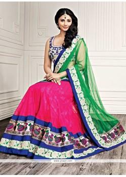 Daisy Shah Pink Net Lehenga Choli