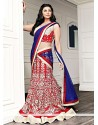 Daisy Shah Red Cotton Lehenga Choli