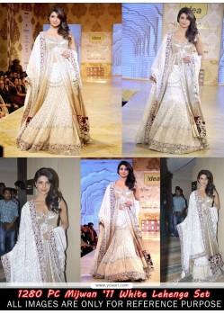 Priyanka Chopra White Net Lehenga Choli