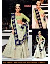 Blenders Pride White Net Lehenga Choli