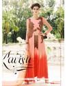 Affectionate Georgette Pink Aari Work Designer Suit