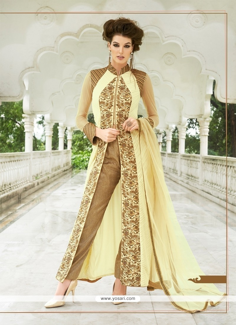 Voluptuous Georgette Resham Work Designer Suit