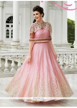 Royal Pink Net Designer Suit