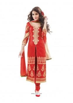 Piquant Red Designer Suit