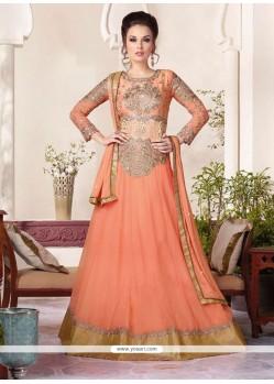 Fine Georgette Resham Work Floor Length Anarkali Suit