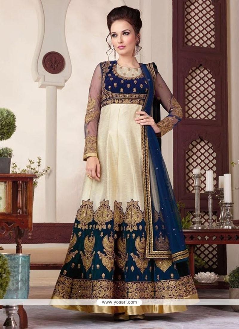 Elite Patch Border Work Anarkali Salwar Suit