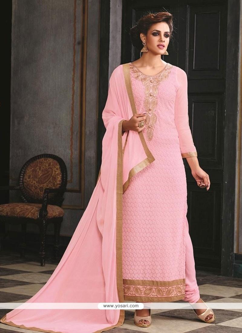 Preferable Georgette Resham Work Designer Suit