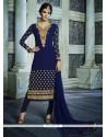 Praiseworthy Patch Border Work Georgette Designer Suit